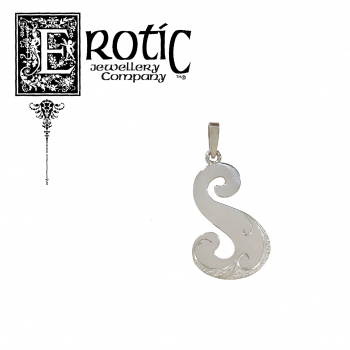 Sterling Silver Letter S Peandant handmade by Paul Amey